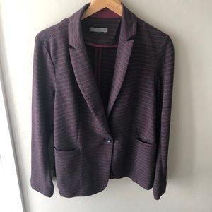 Olivia Moon Knit Gray Stripe Blazer Jacket XL